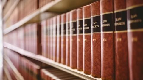 Law reports on shelf. (Photo: Wells Fargo)