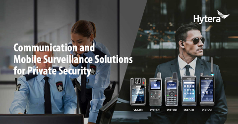 Hytera PoC Communication Solution for Private Security. (Graphic: Business Wire)