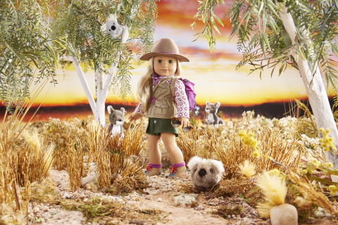 American Girl's 2021 Girl of the Year, Kira Bailey, whose Australia-set storyline focuses on wildlife protection and climate challenges. (Photo: Business Wire)