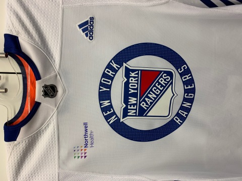 Northwell Health Becomes the New York Rangers' First Practice Jersey Sponsor (Photo: MSG Sports)