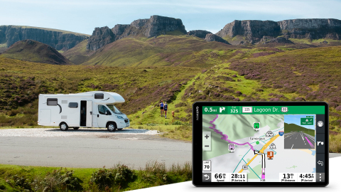 View more of the open road with Garmin's RV 1090 GPS navigator (Graphic: Business Wire)