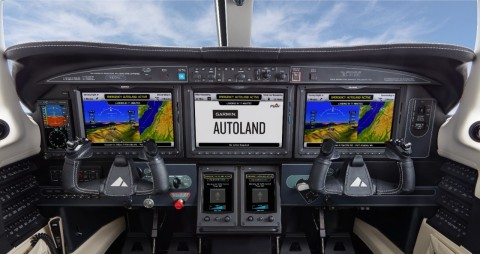 Garmin Autoland is the world's first certified system of its kind with the ability to activate during an emergency situation to autonomously control and land an aircraft without human intervention. (Photo: Business Wire)