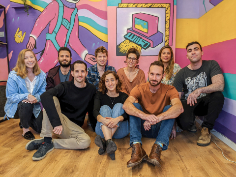 The Spetz team is based in Tel Aviv, Israel. Spetz was founded by three classmates in an entrepreneurial accelerator program in 2017. (Photo: Business Wire)