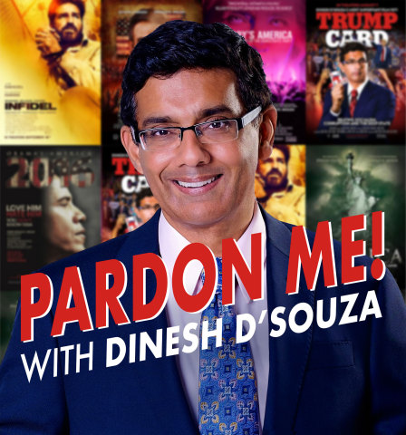 """Salem Media Group, Inc. partners with Dinesh D'Souza with new """"Pardon Me!"""" podcast. (Graphic: Business Wire)"""