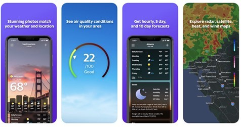 BreezoMeter air quality data will allow Yahoo Weather app users to easily access hourly, location-based air quality levels along with their daily forecast. (Photo: Business Wire)