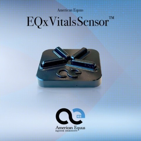 The American Equus EQx VitalsSensor, the first wirelessly charged equine health tracking sensor (Photo: Business Wire)