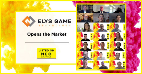 Elys Game Technology, Corp. (NEO:ELYS), a full-service sports betting and interactive gaming technology company, participates in a digital market open to celebrate their listing on the NEO Exchange. Elys Game Technology is available for trading under the symbol NEO:ELYS. (Photo: Business Wire)
