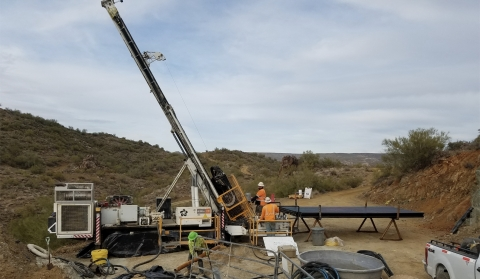 Figure 1. Drill rig turning at start of Kay Mine Phase 2 expansion program (Jan 6, 2021) (Photo: Business Wire)