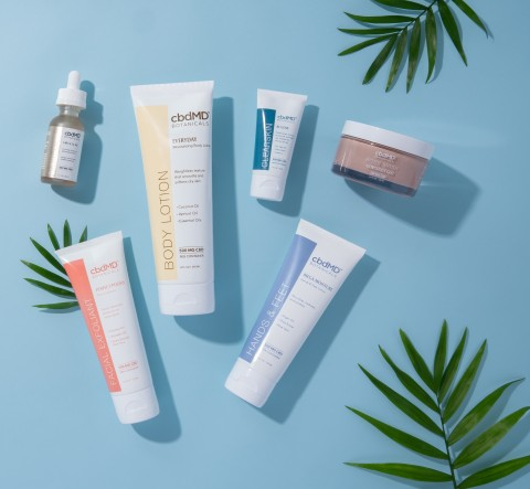 """cbdMD officially enters the global beauty and skincare market with its launch of """"cbdMD Botanicals,"""" a naturally-derived skincare line featuring 15 luxury products. (Photo: Business Wire)"""