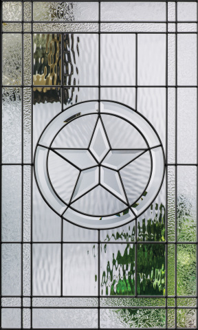 Beautifully crafted with a strong, independent design, Texas Star decorative glass is now available with black nickel caming (Photo: Business Wire)