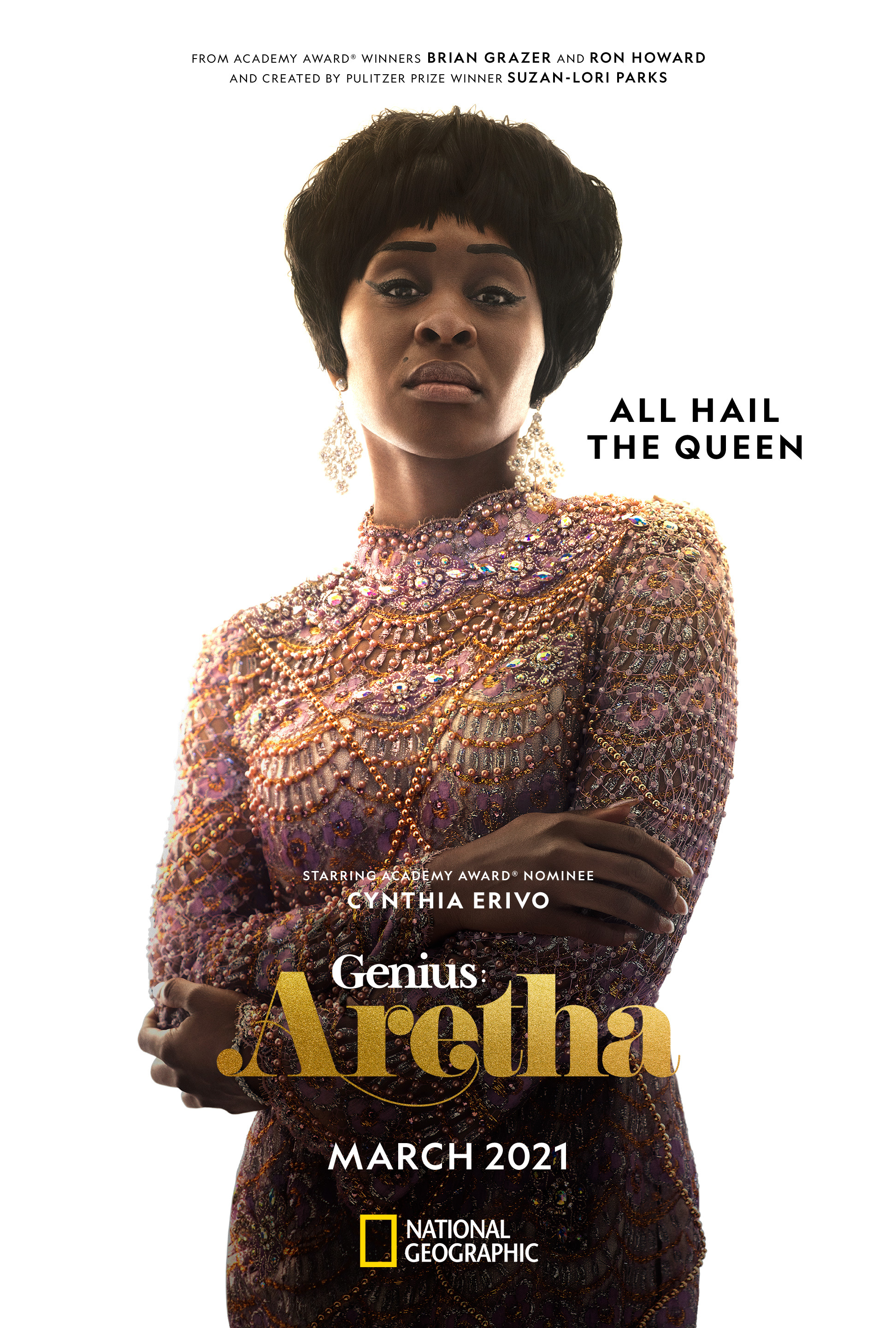 Triple Threat Tony®-, Emmy®- and Grammy® Award-Winning Actress Cynthia Erivo Exclusively Reveals Key Art to National Geographic's Critically Acclaimed Anthology Series, GENIUS: ARETHA   Business Wire