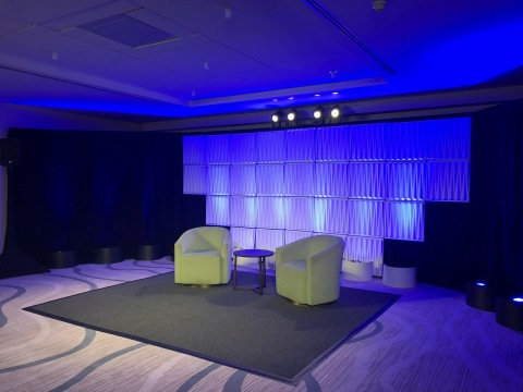 An example of a Presentation Stage at Conrad Fort Lauderdale Beach. (Photo: Business Wire)