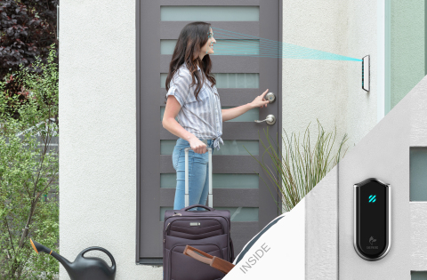 Shepherd Lock Gen2 is the first ever smart lock that combines facial recognition and touch for entry. (Photo: Business Wire)