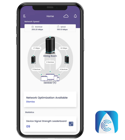 To deliver a comprehensive experience for users to stay on top of their connected life, the SURFboard Central mobile app provides easy access to a digital dashboard for their networks. By using a mobile Android or iOS device, customers can: setup the home Wi-Fi network; check and monitor all the devices connected to the home network; set parental controls; optimize your Wi-Fi and advanced network settings; and set guest Wi-Fi for visitors. (Photo: Business Wire)