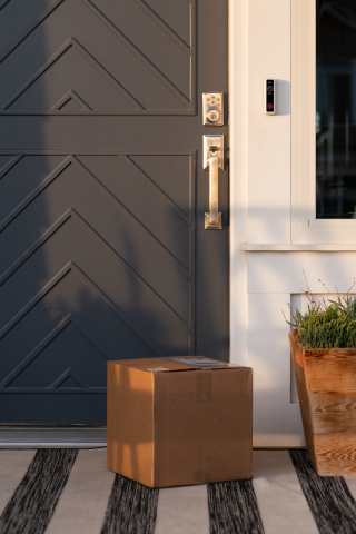 The Vivint Doorbell Camera Pro intelligently detects packages and actively helps protect them from porch pirates and other potential threats. (Photo: Business Wire)