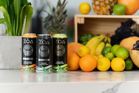ZOA energy drinks will be available for purchase online in March 2021 (Photo: Business Wire)