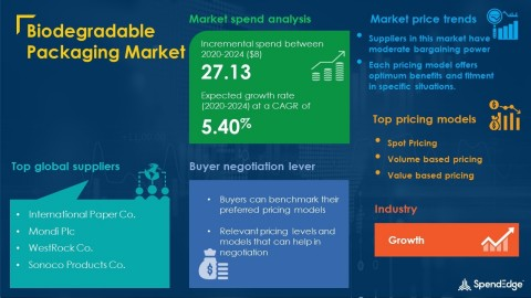 SpendEdge has announced the release of its Global Biodegradable Packaging Market Procurement Intelligence Report (Graphic: Business Wire)
