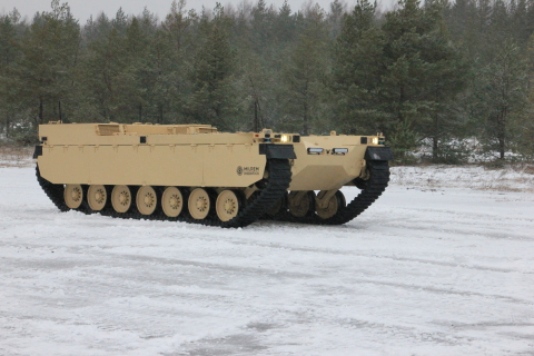 The Type-X by Milrem Robotics will become an intelligent wingman to main battle tanks and infantry fighting vehicles and will be capable of taking on the most dangerous tasks and positions, resulting in lower lethality risks. (Photo: Business Wire)