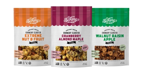 Gluten-Free CPG Manufacturer, Bakery On Main unveils a complete rebrand across all product lines. The eye-catching redesigned packaging is rolling out nationally and on e-commerce. For more information on how Bakery On Main makes life easy on Main Street visit www.bakeryonmain.com (Graphic: Business Wire)