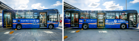 Like the 470 bus models delivered by BYD to Bogotá in December 2020, this batch of 1002 buses also includes 9-meter and 12-meter models. (Photo: Business Wire)
