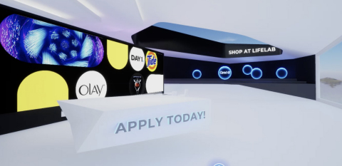 "The P&G LifeLab Everyday is an all-new immersive experience that gives consumers a ""virtual sneak peek"" into how P&G is combining deep consumer understanding with cutting-edge technologies to make life a little bit easier, and the future a little bit brighter, every day. (Photo: Business Wire)"