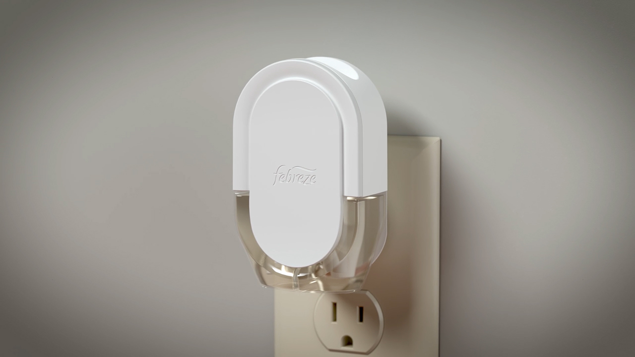 Febreze Fade Defy Plug Air Freshener is the first mass plug-in with built-in microchip technology that digitally controls how much scent is released, so it stays First Day Fresh for a full 50 days (when used on low)! Plus, it has an LED light that lights up when it's time for a refill.