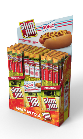 SONIC teams up with Slim Jim® to create new snack that perfectly balances the hearty, savory flavors of a SONIC Chili Cheese Coney and the bold, meaty flavor of Slim Jim. (Photo: Business Wire)
