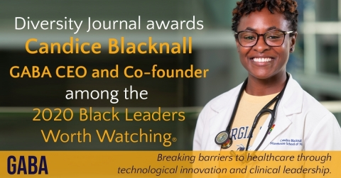 GABA CEO and co-founder Candice Blacknall, recently selected for Diversity Journal's first class of Black Leaders Worth Watching award winners. (Photo: Business Wire)