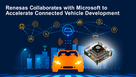 Renesas collaborates with Microsoft to accelerate connected vehicle development (Graphic: Business Wire)