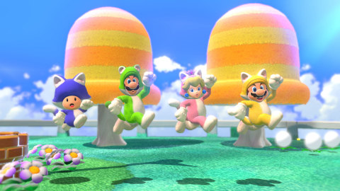 Super Mario 3D World + Bowser's Fury launches in stores, in Nintendo eShop on Nintendo Switch and on Nintendo.com on Feb. 12 at a suggested retail price of $59.99. (Graphic: Business Wire)