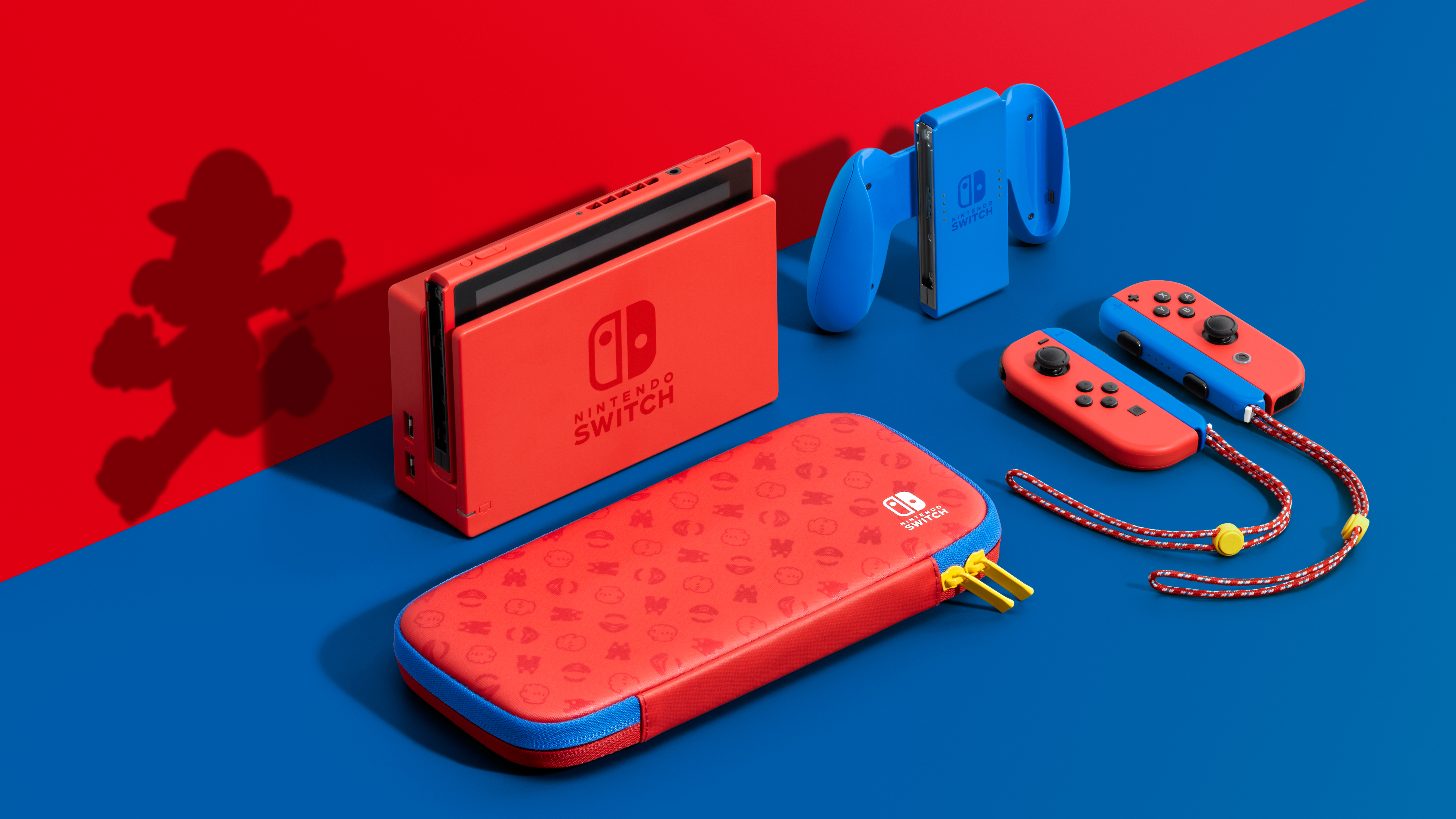 The Mario Red &Amp; Blue Edition Switch Console Is The First Time The Switch System Itself Has Been Available In A Different Colour.