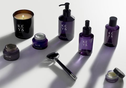 Keys Soulcare new dermatologist-developed clean skincare offerings. Photo Courtesy: Keys Soulcare