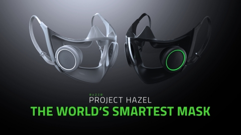 Project Hazel from Razer is the world's smartest facial mask for everyday use with N95 protection, a replaceable and rechargeable active ventilation system and a transparent shield for social interaction. (Graphic: Business Wire)