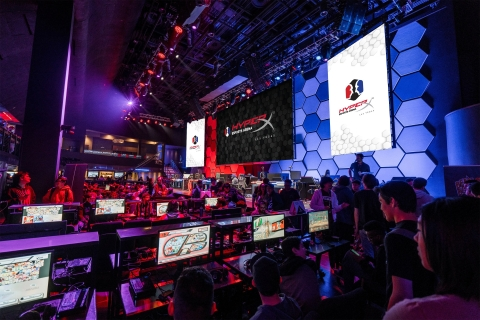 Gamers participate in a tournament at HyperX Esports Arena Las Vegas. (Photo: Business Wire)