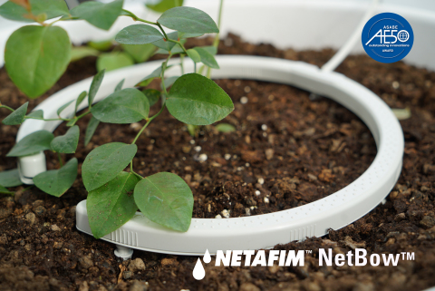 NetBow™ was developed to address the unique irrigation and fertigation needs of high-value, soilless, pot-irrigated crops such as blueberries and medical cannabis. (Photo: Business Wire)