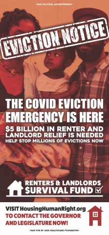 'The COVID Eviction Emergency Is Here' advocacy ads is running in four newspapers across California this week starting today, Wednesday, January 13, 2021 (Graphic: Business Wire)