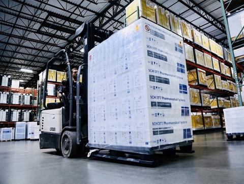 Another shipment of vaccine-ready vials leaving SCHOTT's Lebanon facility in Pennsylvania. Image: SCHOTT