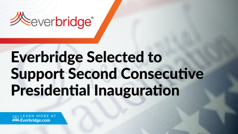 Everbridge Selected to Support Second Consecutive Presidential Inauguration (Photo: Business Wire)