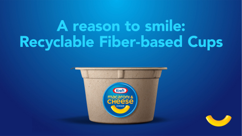 Kraft Mac & Cheese Recyclable Fiber-Based Cup (Graphic: Business Wire)