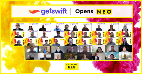 GetSwift (NEO:GSW), a trailblazing technology company providing a suite of last-mile delivery logistics services, participates in a digital market open to celebrate their launch today on the NEO Exchange. GetSwift is now available for trading under the symbol NEO:GSW.