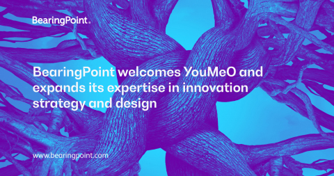 "Management and technology consultancy BearingPoint welcomes YouMeO, a strategy and innovation agency, and has created ""YouMeO by BearingPoint"" within the group (Graphic: Business Wire)"