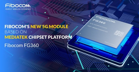 Fibocom releases its latest 5G module FG360 during the CES 2021 event. The module supports 5G Sub-6GHz 2CC Carrier Aggregation 200MHz frequency and 5G + WiFi-6 connectivity to provide a high-speed and low-latency 5G network experience. Engineering samples of the module will be available in January. Fibocom will be the first in the industry to provide engineering samples of 5G modules based on the MediaTek chipset platform. (Photo: Business Wire)