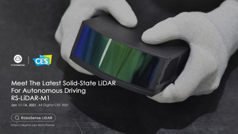 The SOP version of RoboSense RS-LiDAR-M1 (Photo: Business Wire)