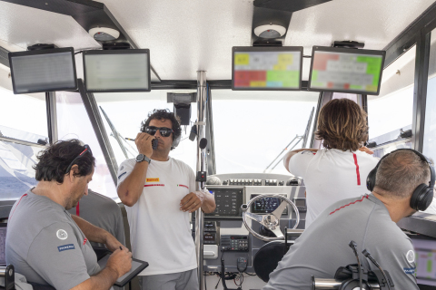 The Luna Rossa Prada Pirelli team will rely on CommScope's RUCKUS Wi-Fi network to carry data from onboard sensors and devices to a local server and to support boats. (Photo: Business Wire)