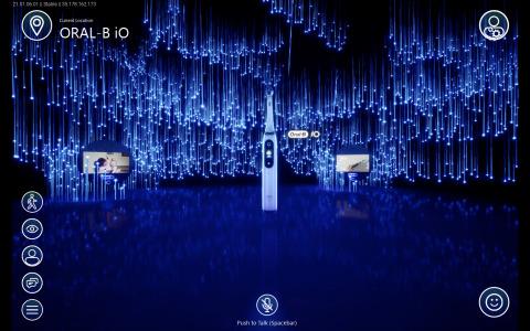 2021年コンシューマー・エレクトロニクス・ショー(CES)のP&Gライフラボ・エブリデイ仮想プラットフォームでのオーラルB iO体験(写真:ビジネスワイヤ)