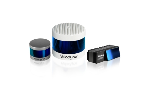 Velodyne Lidar's Puck™, Alpha Prime™ and Velarray H800 sensors (shown here) are designed for safe navigation and collision avoidance in ADAS and autonomous mobility applications. (Photo: Velodyne Lidar, Inc.)