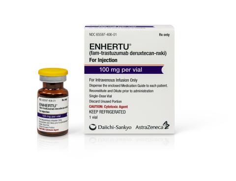 ENHERTU® (fam-trastuzumab deruxtecan-nxki) Vial and Box Photo PP-US-8201a-0488 © 2019 Daiichi Sankyo, Inc. and AstraZeneca