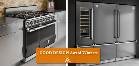 The Hestan 48-Inch Dual Fuel Range and Ensemble Refrigeration Suites™ have each secured prestigious GOOD DESIGN® Awards. (Photo: Business Wire)