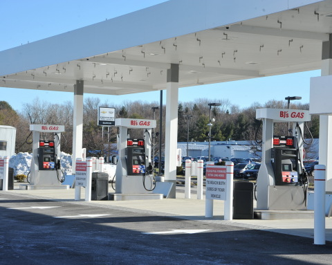 BJ's Wholesale Club announced the opening of its newest BJ's Gas location in Newburgh, N.Y. on Jan. 19, 2021. The Newburgh location will be the 150th BJ's Gas location for the company and will offer regular, premium and diesel fuels. (Photo: Business Wire)