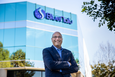 Lou Cooperhouse, BlueNalu's President & CEO, standing in front of the company headquarters and pilot food production facility in San Diego, CA (Photo: Business Wire)